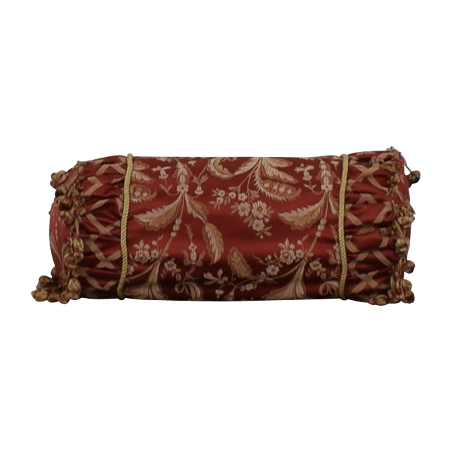 Custom Red and Gold  Decorative Neck Pillow coupon