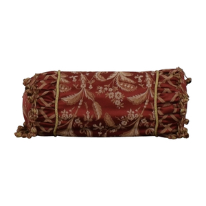 Custom Red and Gold  Decorative Neck Pillow used