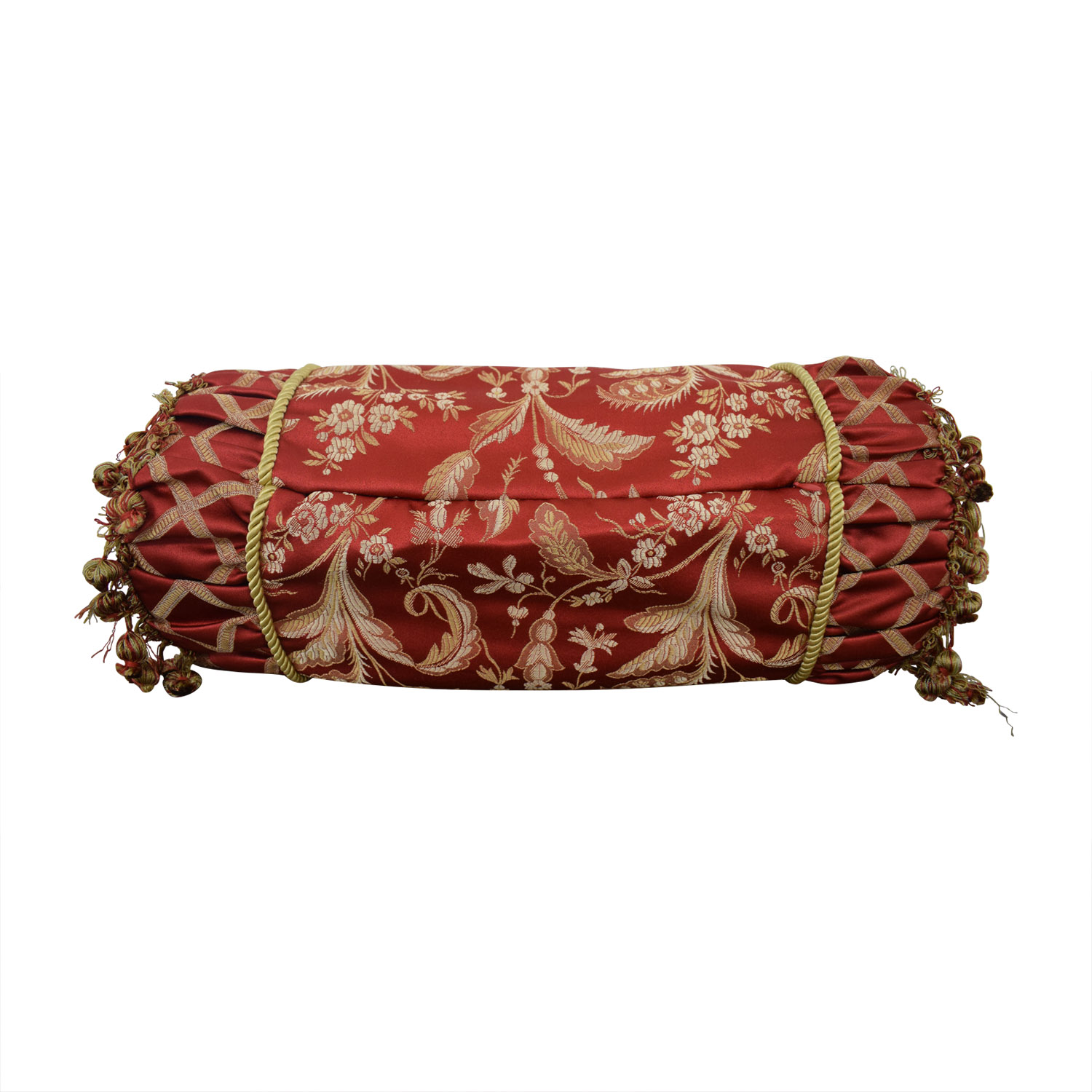 shop Custom Red and Gold  Decorative Neck Pillow