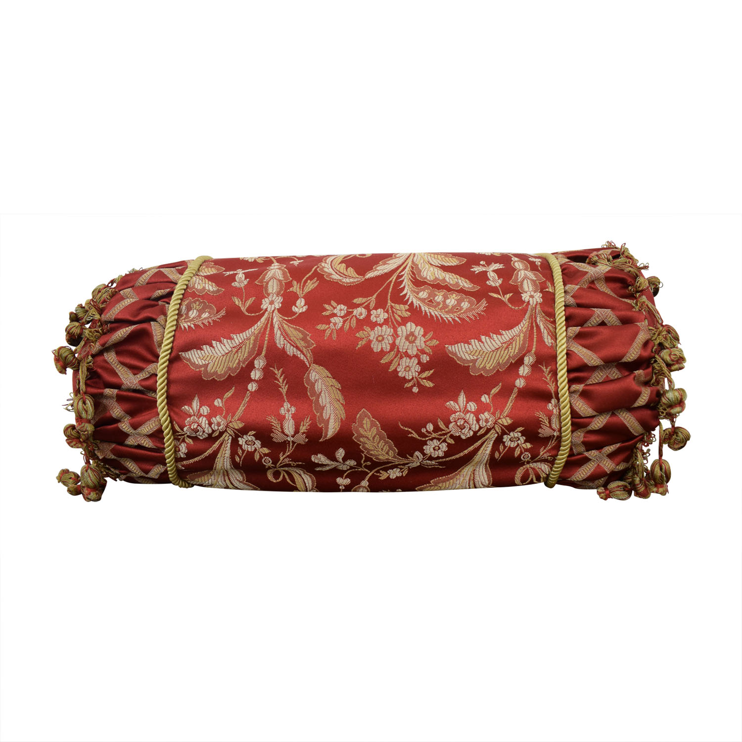 buy  Custom Red and Gold  Decorative Neck Pillow online