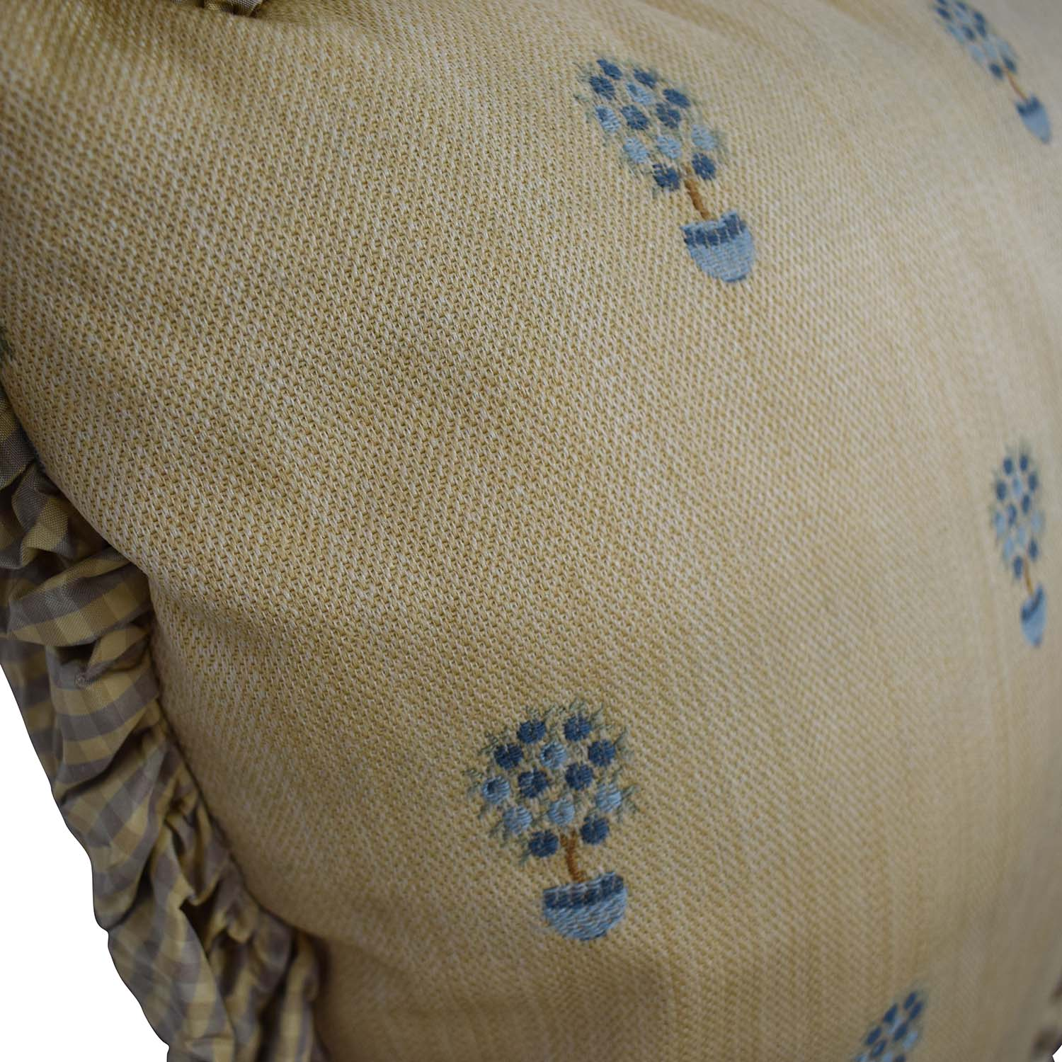 buy Custom Gold and Blue Decorative Pillow  Decorative Accents