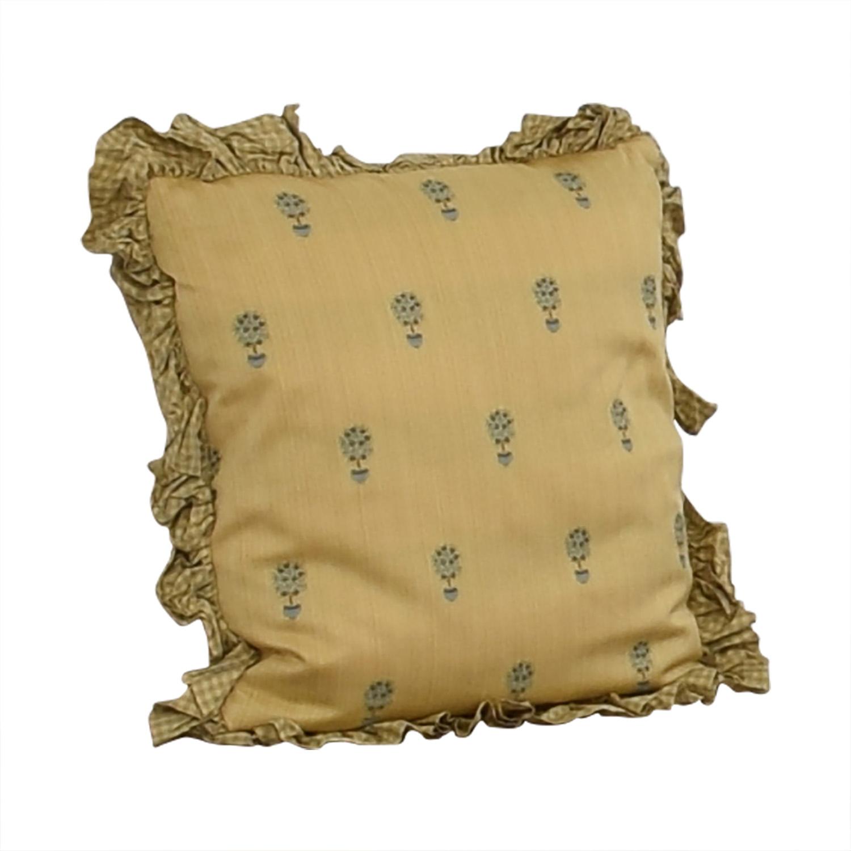 shop Custom Gold and Blue Decorative Pillow  Decor