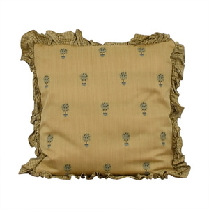 Custom Gold and Blue Decorative Pillow