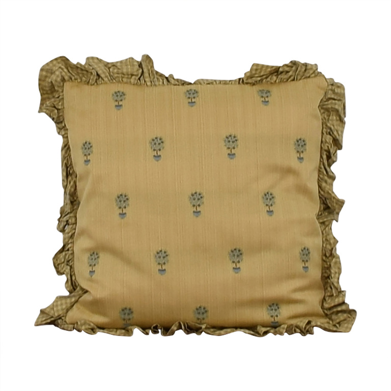Custom Gold and Blue Decorative Pillow price