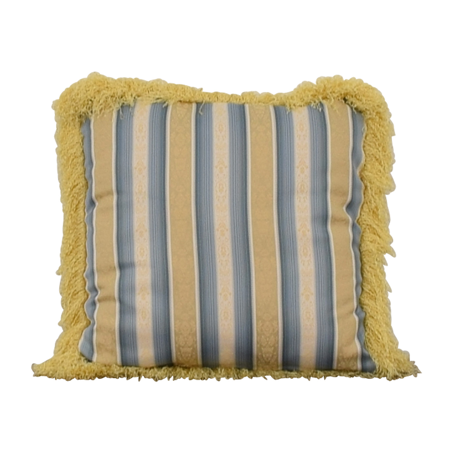 Custom Blue and Gold Decorative Pillow nyc