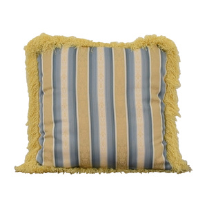 Custom Blue and Gold Decorative Pillow Decor