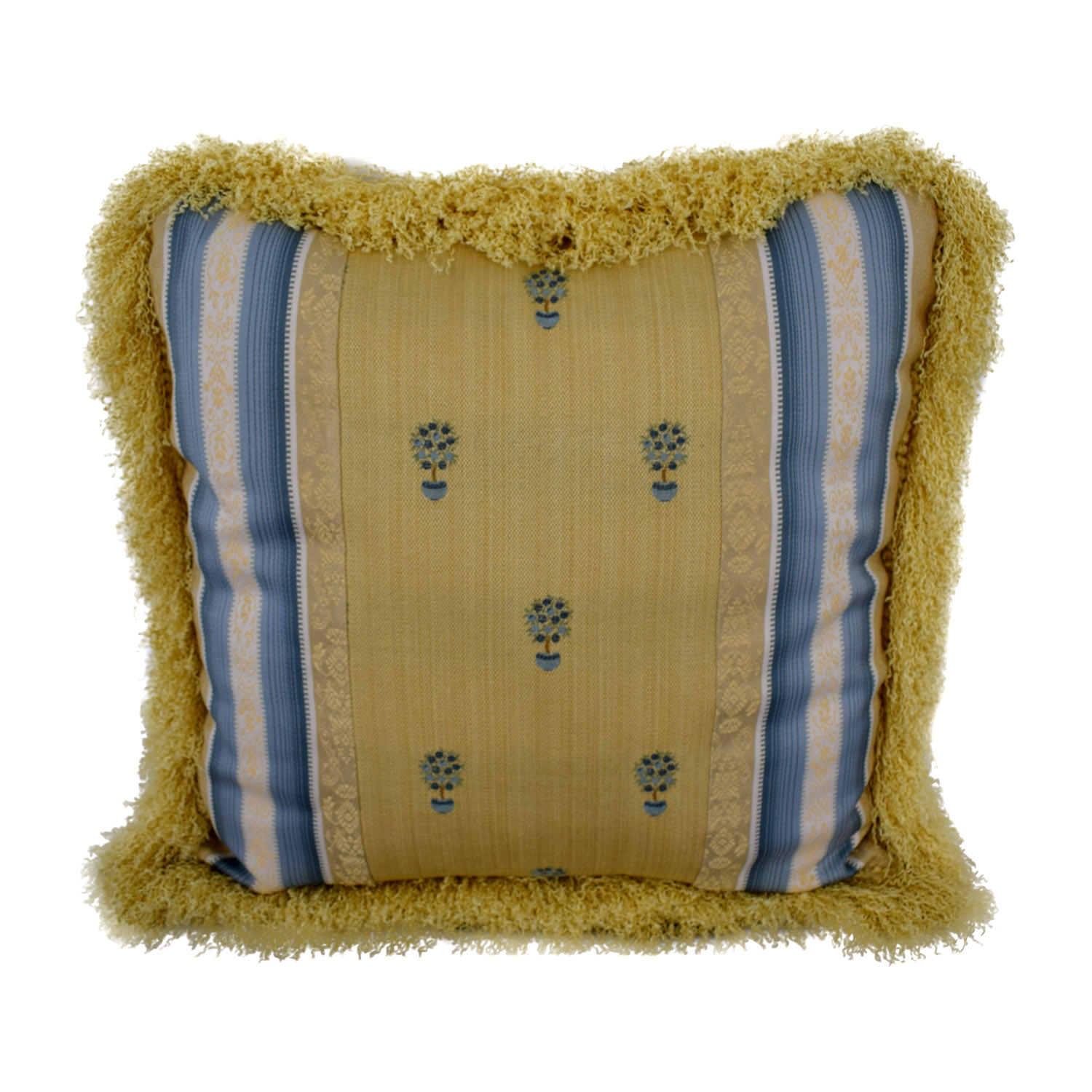 shop Custom Blue and Gold Decorative Pillow