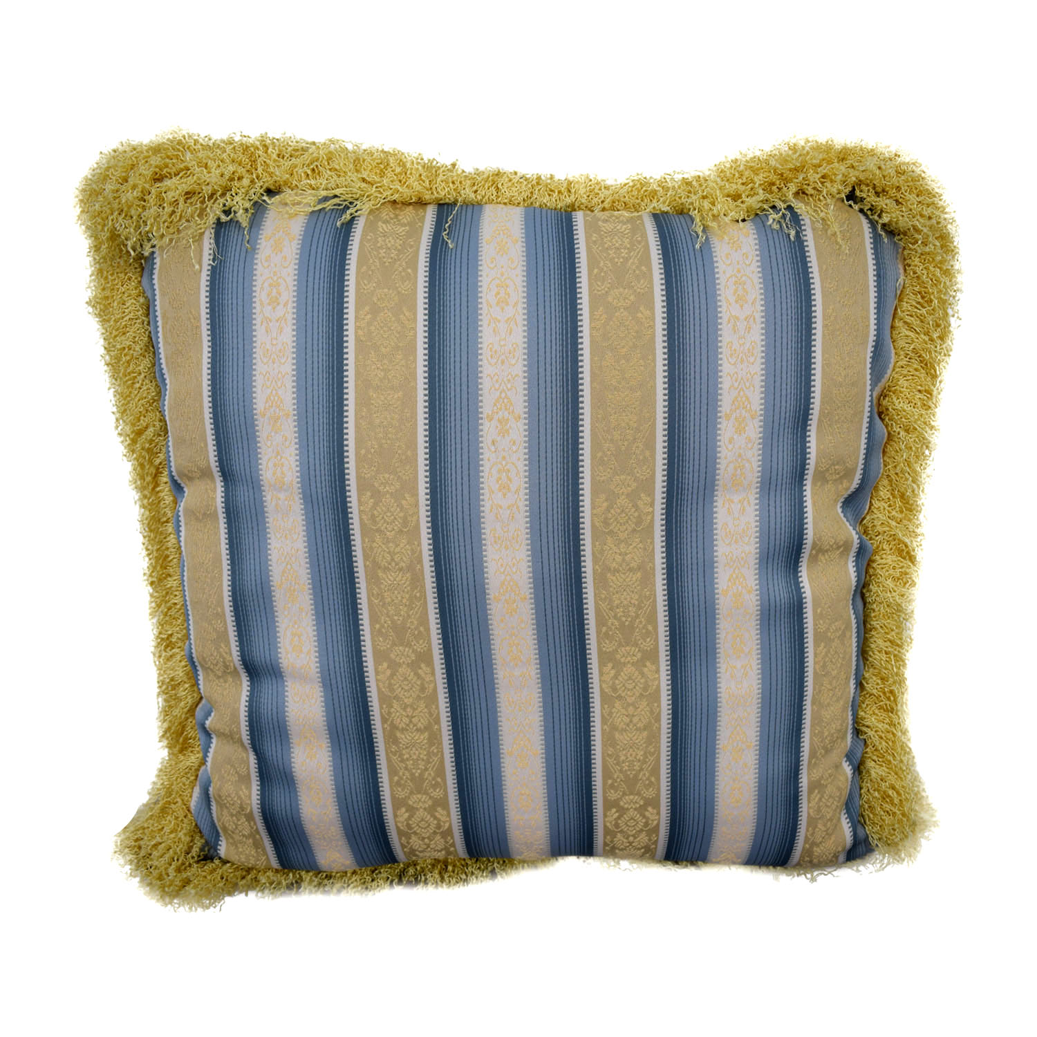 buy Custom Blue and Gold Decorative Pillow