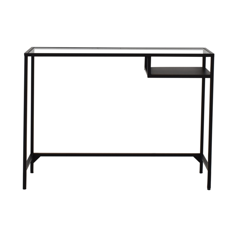 Glass and Metal Desk discount