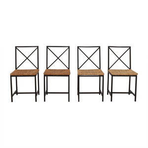 shop Black Metal Straw Chairs  Chairs
