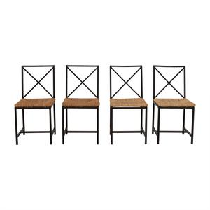 Black Metal Straw Chairs dimensions