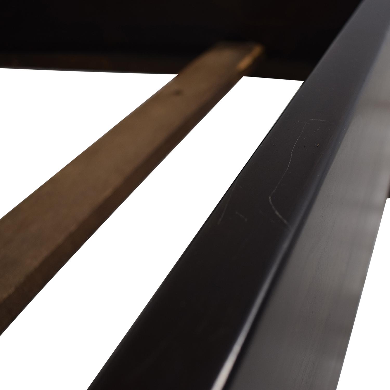 Upholstered Grey Queen Bed Frame dark brown
