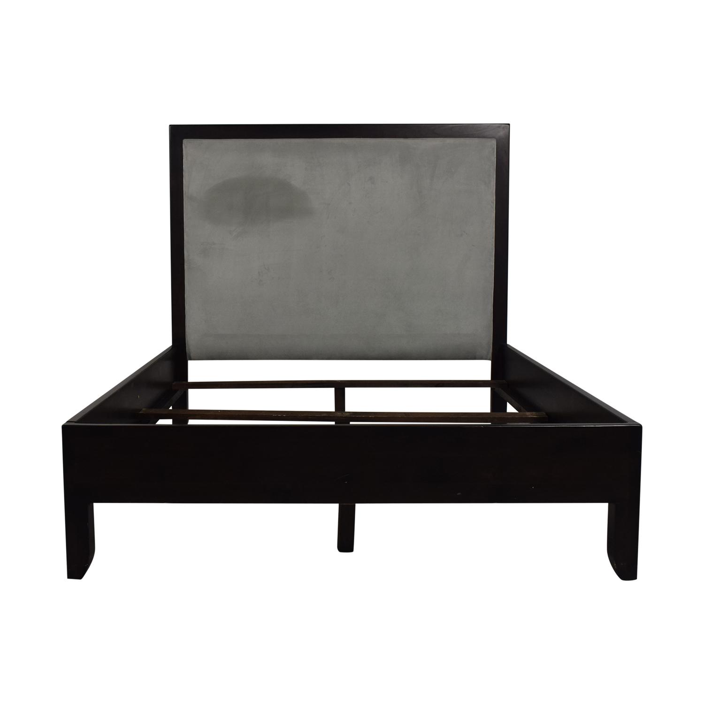 Upholstered Grey Queen Bed Frame / Beds