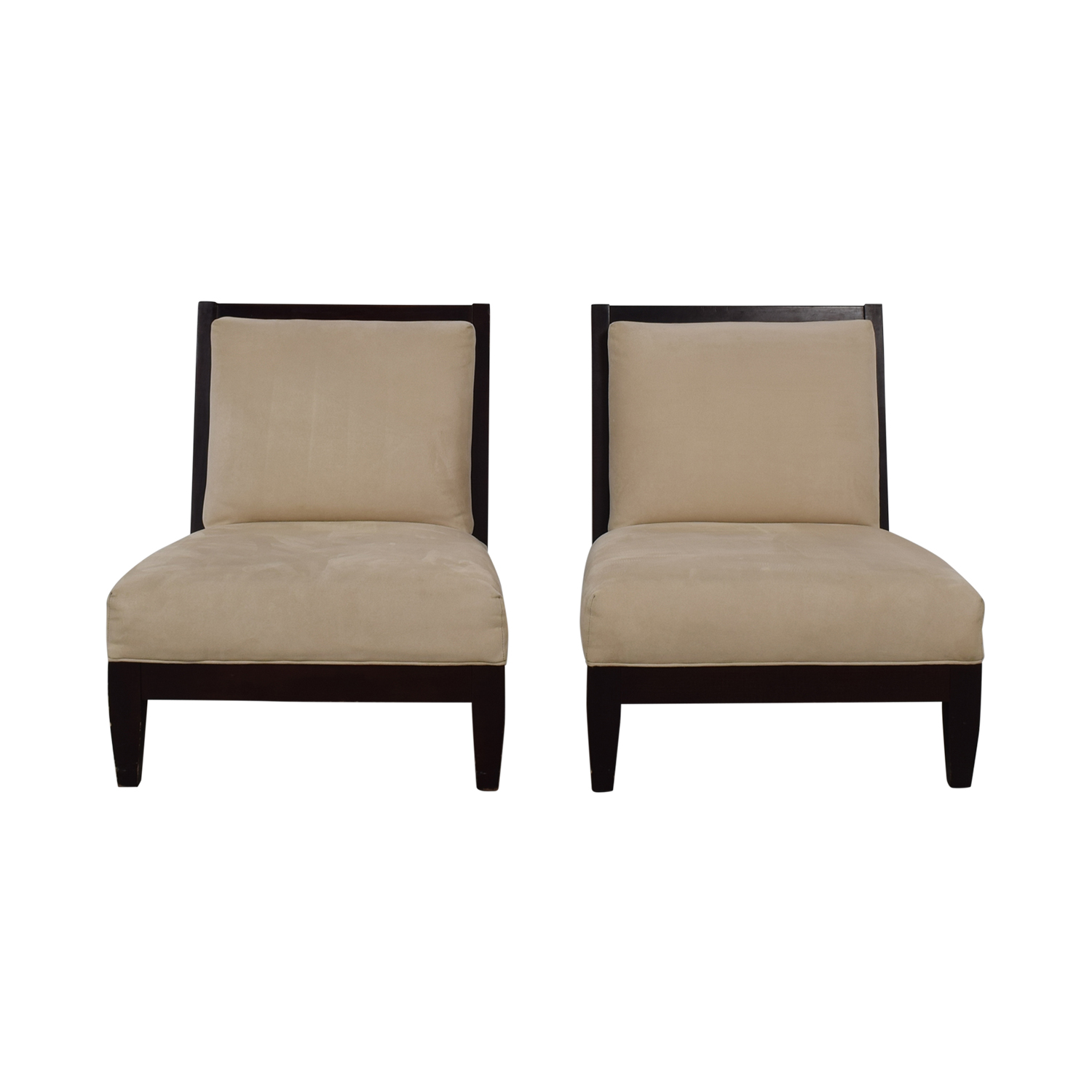 Room & Board Room & Board Beige and Black Accent Chairs second hand