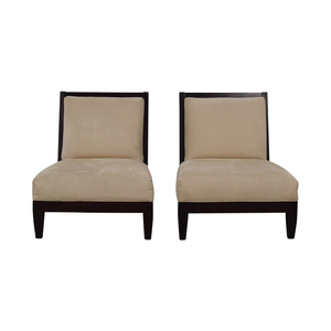 buy Room & Board Beige and Black Accent Chairs Room & Board