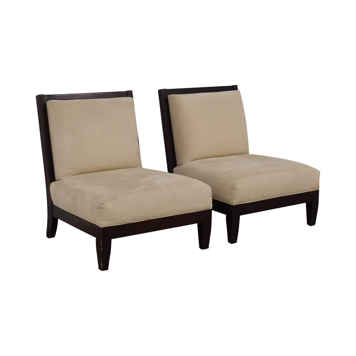 Room & Board Beige and Black Accent Chairs sale