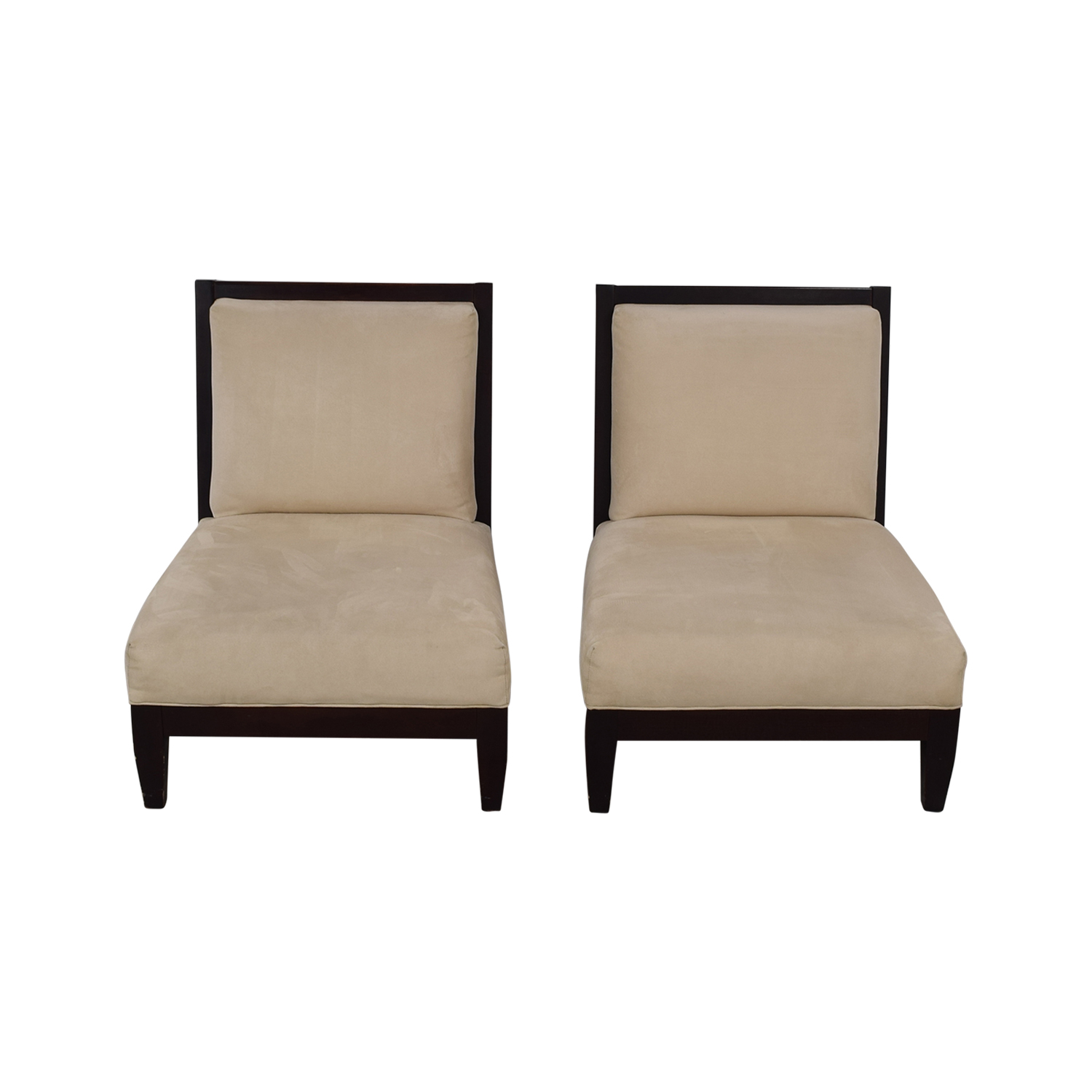 Room & Board Beige and Black Accent Chairs / Accent Chairs