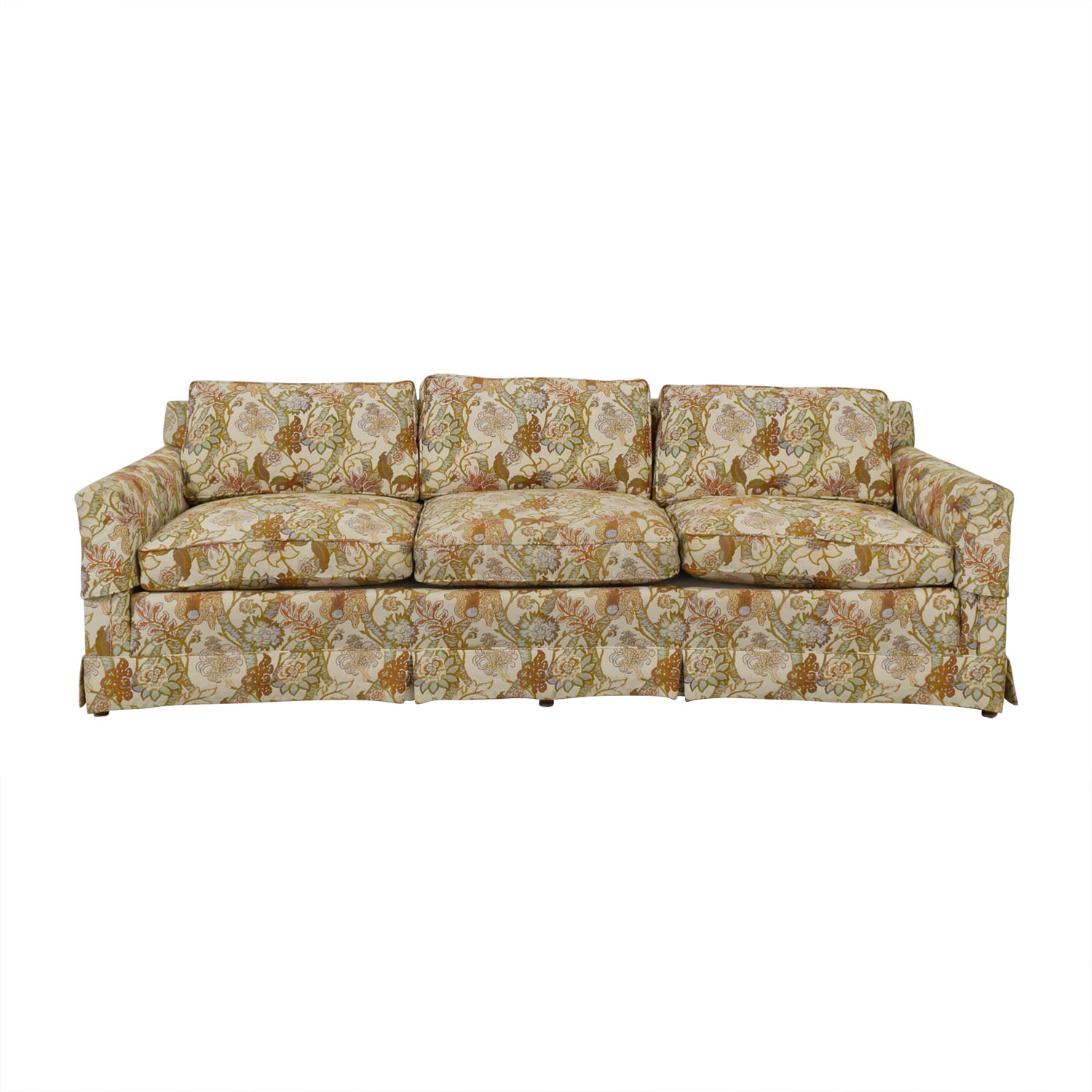 Henredon Furniture Henredon Feather Down Floral Three-Cushion Couch for sale