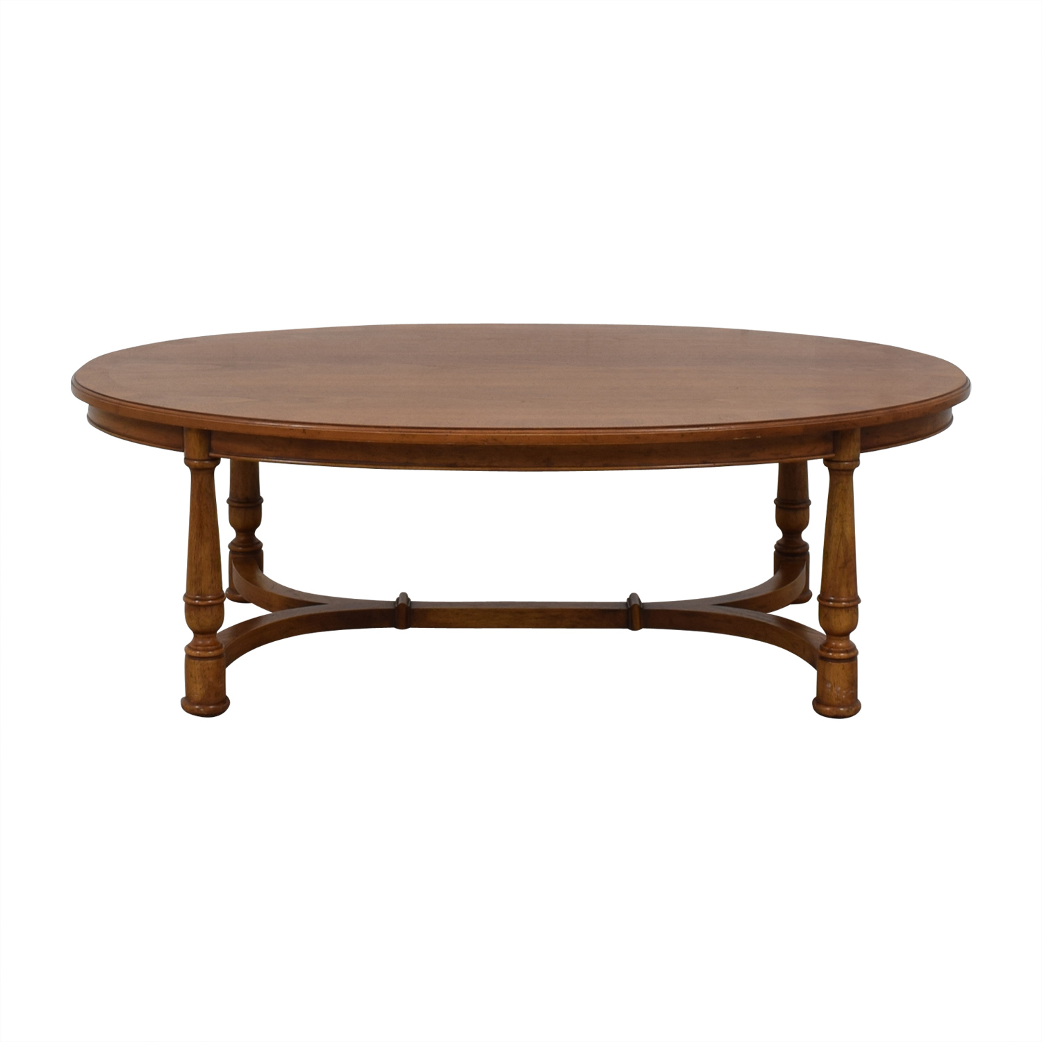 shop Oval Fruitwood Coffee Table  Tables