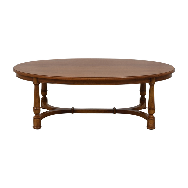 Oval Fruitwood Coffee Table used