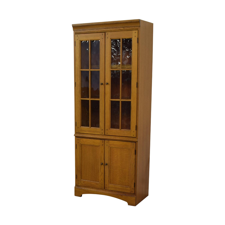 buy Hooker Furniture Oak and Glass Lighted Cabinet Hooker Furniture Storage
