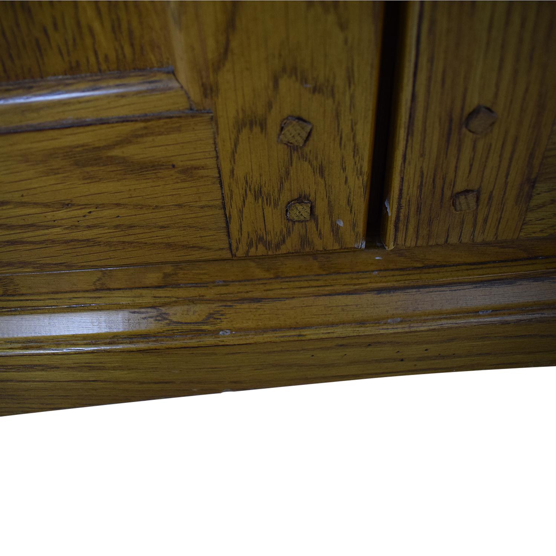 Hooker Furniture Hooker Furniture Oak and Glass Lighted Cabinet brown