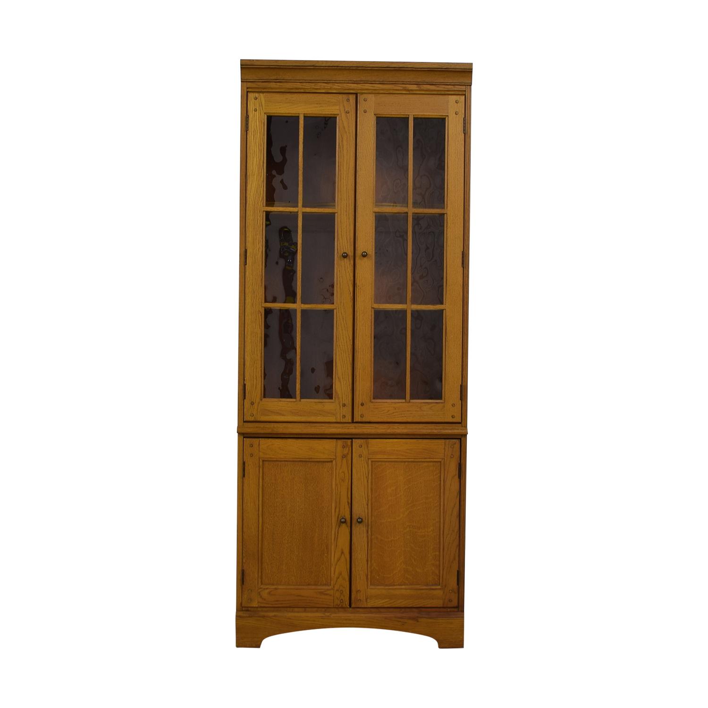 Hooker Furniture Hooker Furniture Oak and Glass Lighted Cabinet price