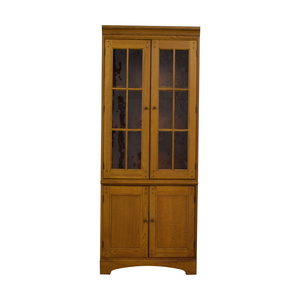 Hooker Furniture Hooker Furniture Oak and Glass Lighted Cabinet nyc