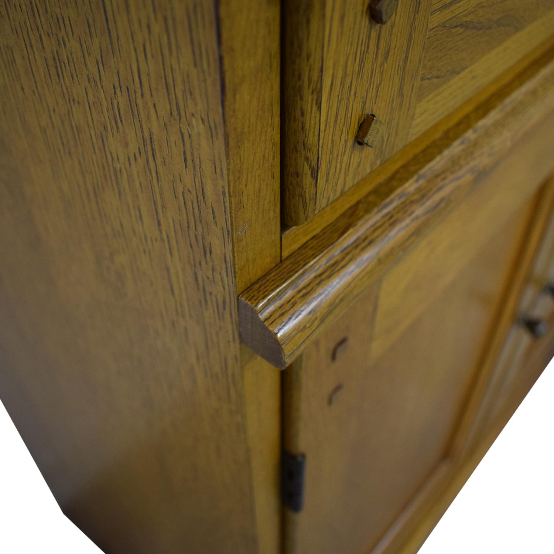 Hooker Furniture Hooker Furniture Oak and Glass Lighted Cabinet for sale