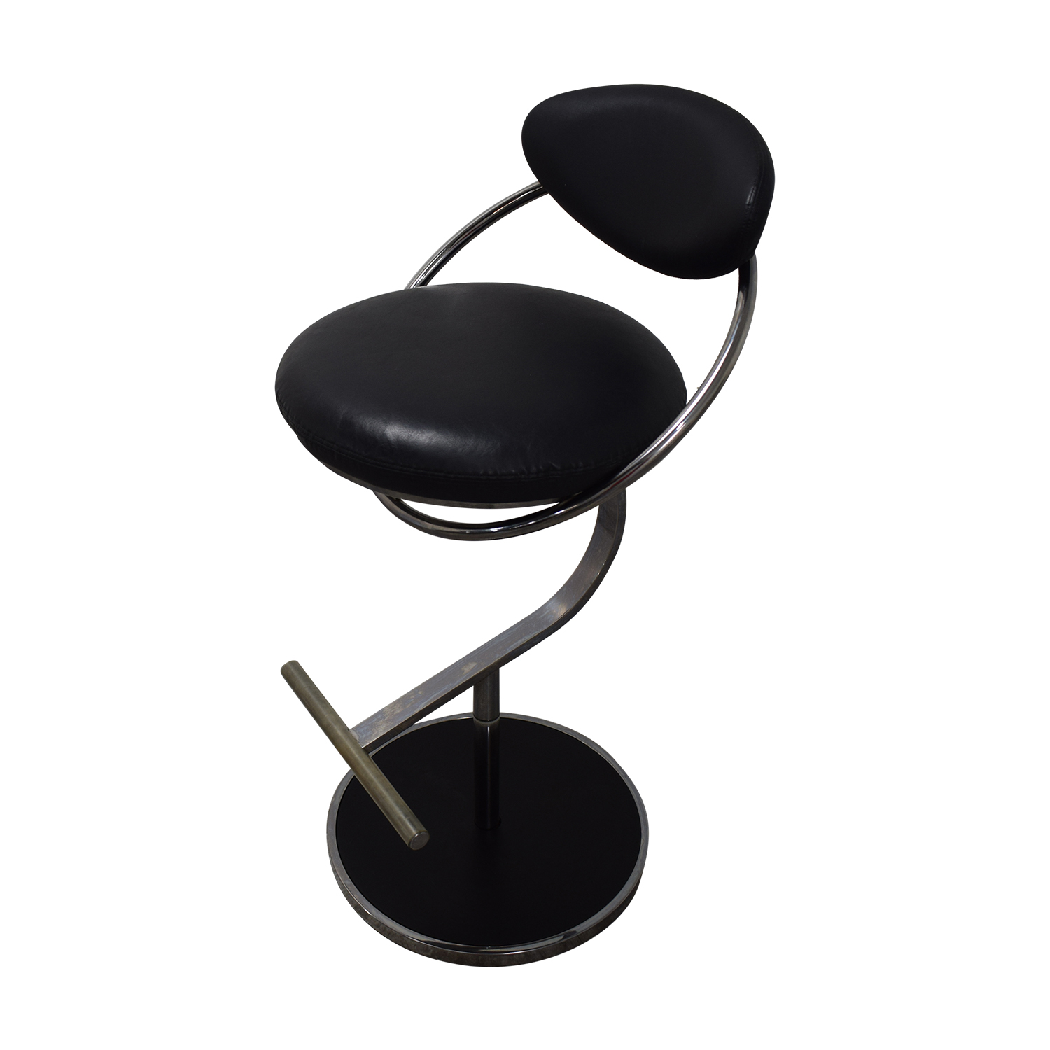 shop Chrome Glass and Black Bar with Stools  Tables