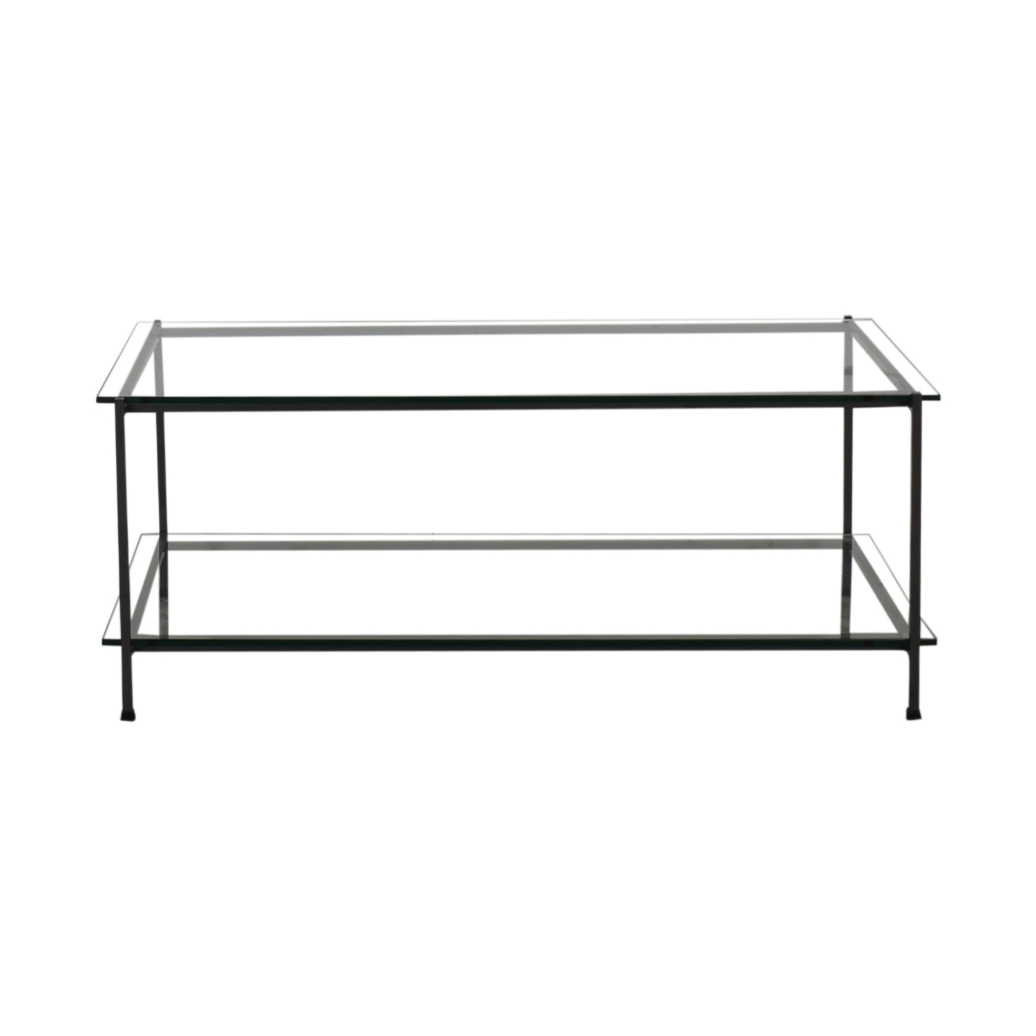 Metal and Glass Coffee Table for sale