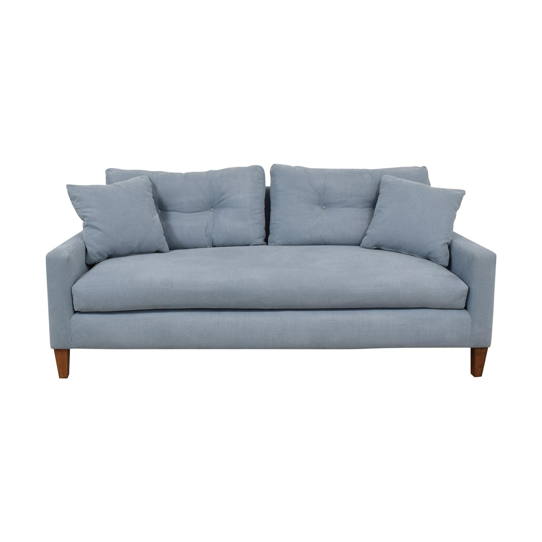 Classic Sofa Classic Sofa Steel Blue Single Cushion Sofa price
