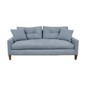 Classic Sofa Classic Sofa Steel Blue Single Cushion Sofa used
