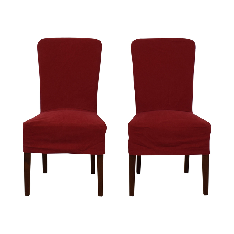 Pottery Barn Pottery Barn Parsons Red Chairs discount