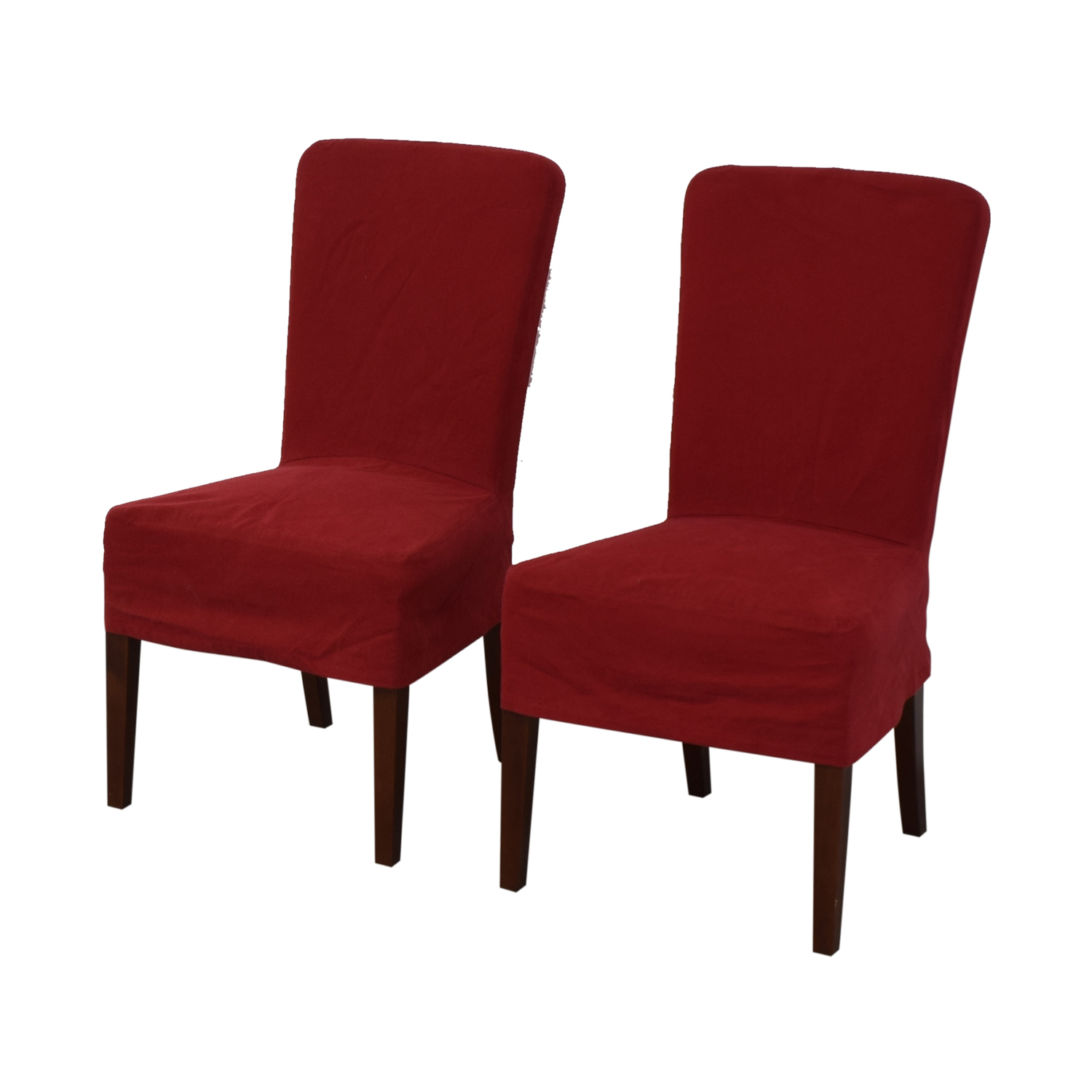 Pottery Barn Pottery Barn Parsons Red Chairs dimensions