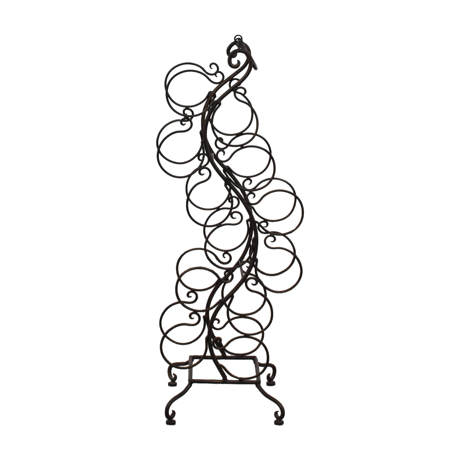 shop Battalglias Black Metal Wine Rack Battalglias Decorative Accents