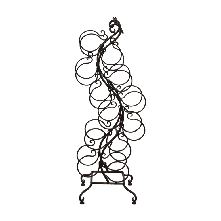 shop Battalglias Black Metal Wine Rack Battalglias Storage