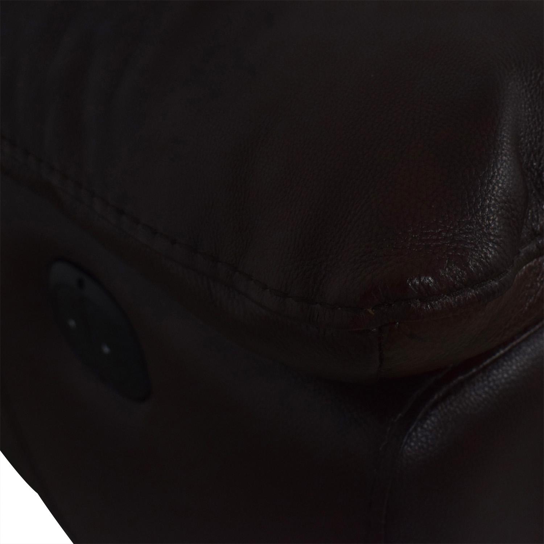shop Raymour & Flanigan Raymour & Flanigan Reclining Brown Two-Cushion Sofa online