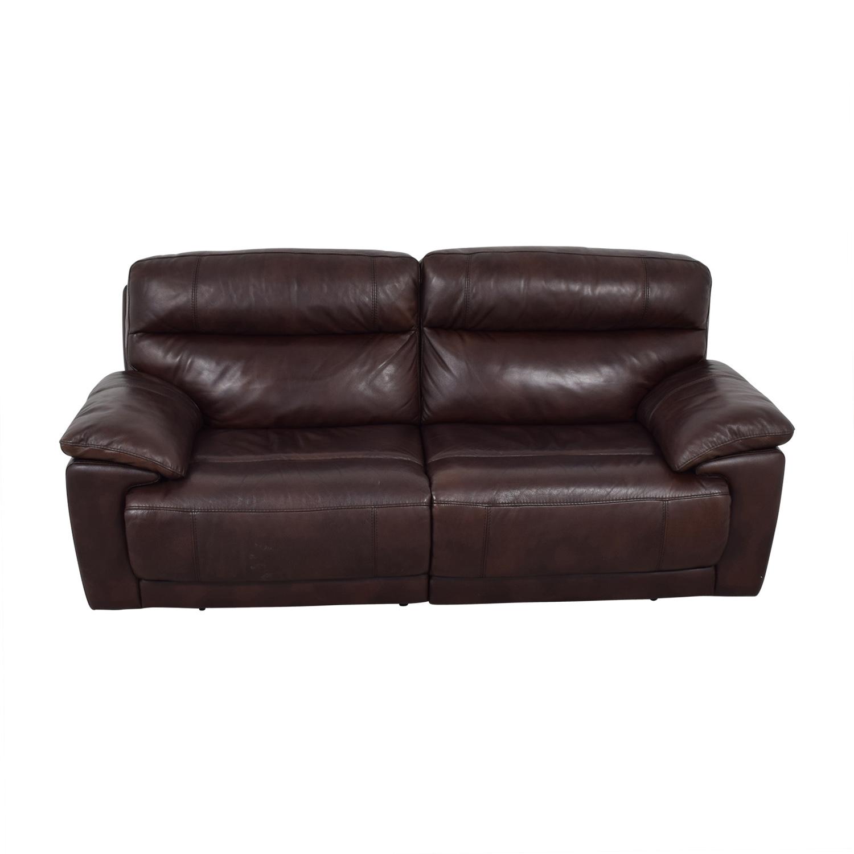 Raymour & Flanigan Reclining Brown Two-Cushion Sofa / Chairs