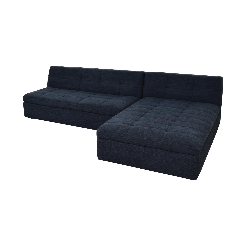 West Elm West Elm Plateau Armless Sofa with Storage Chaise Sofas