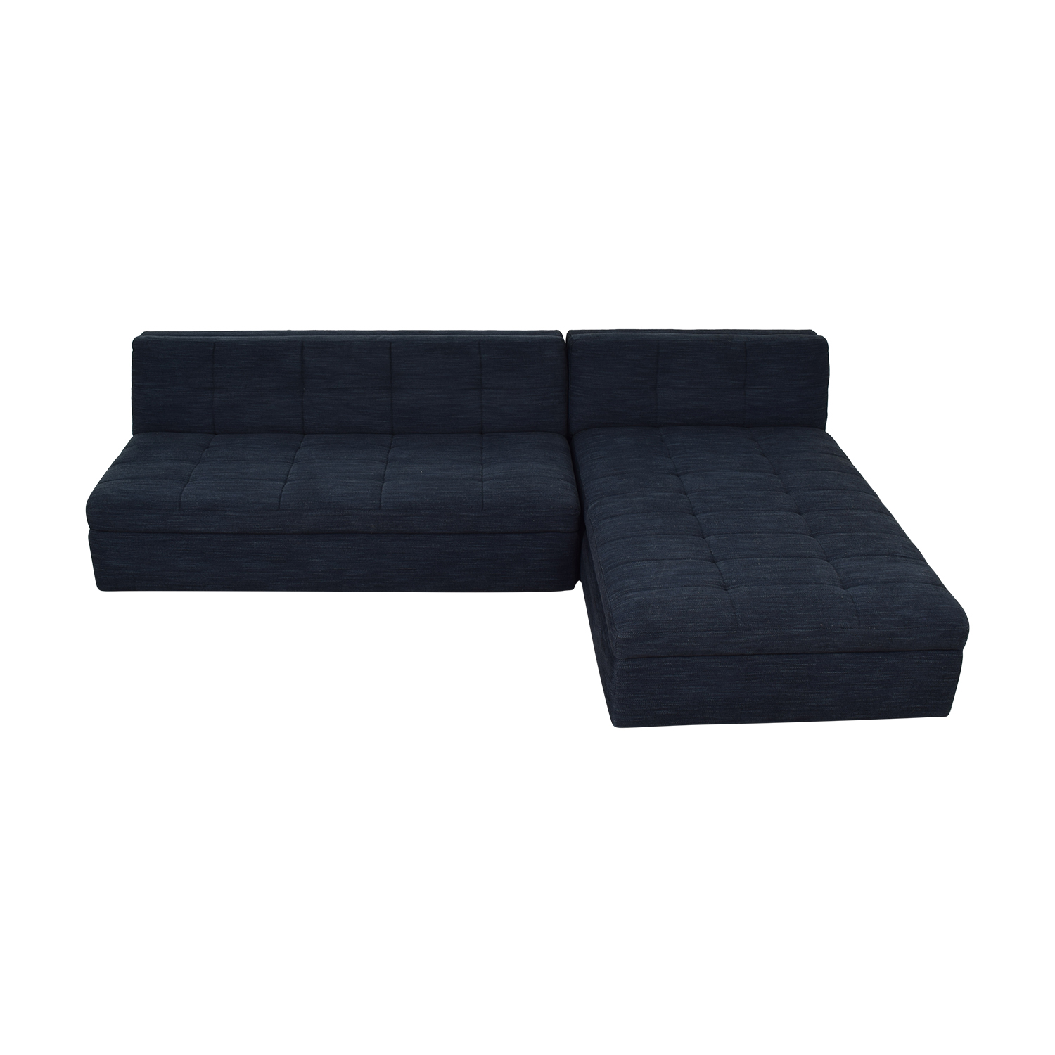 West Elm West Elm Plateau Armless Sofa with Storage Chaise