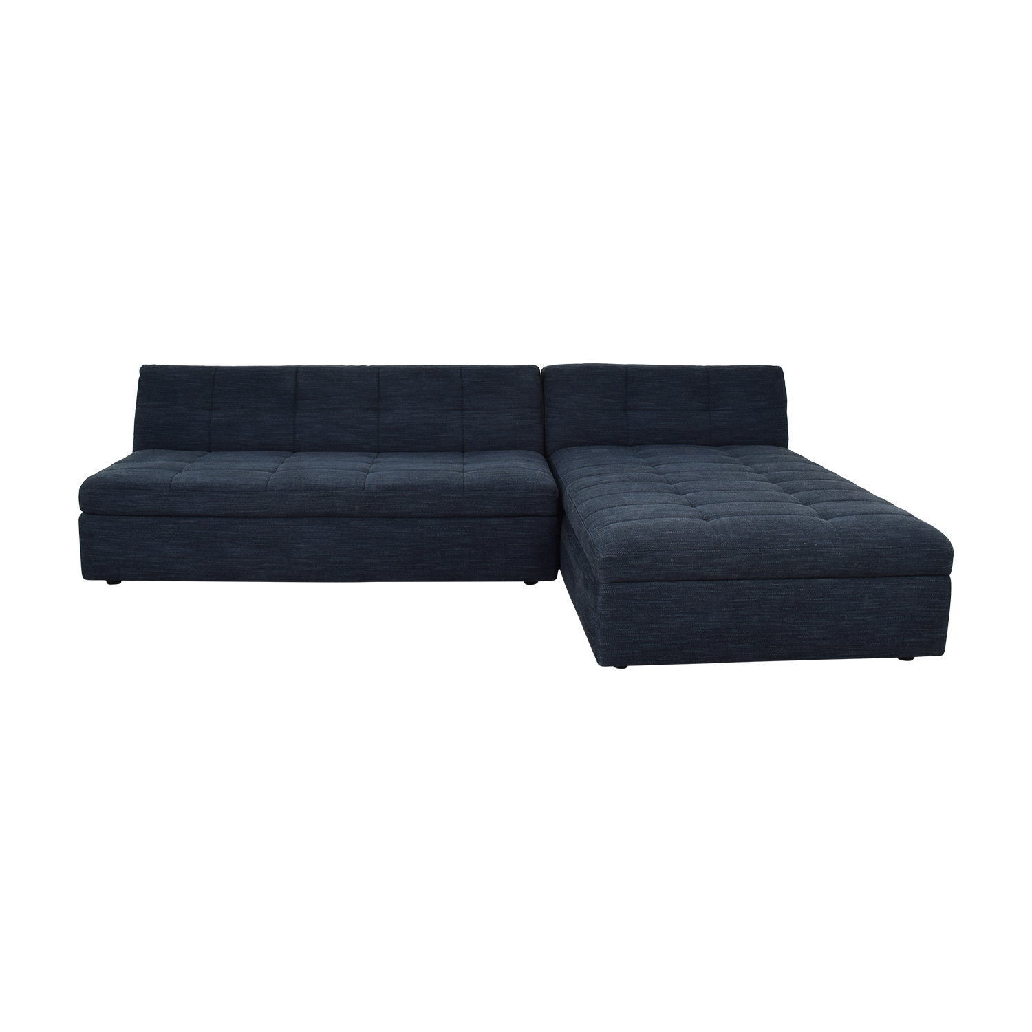 West Elm West Elm Plateau Armless Sofa with Storage Chaise for sale