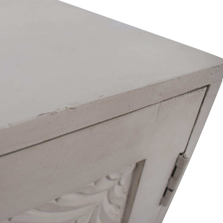 74% OFF   HomeGoods HomeGoods Floral Carved Sideboard / Storage