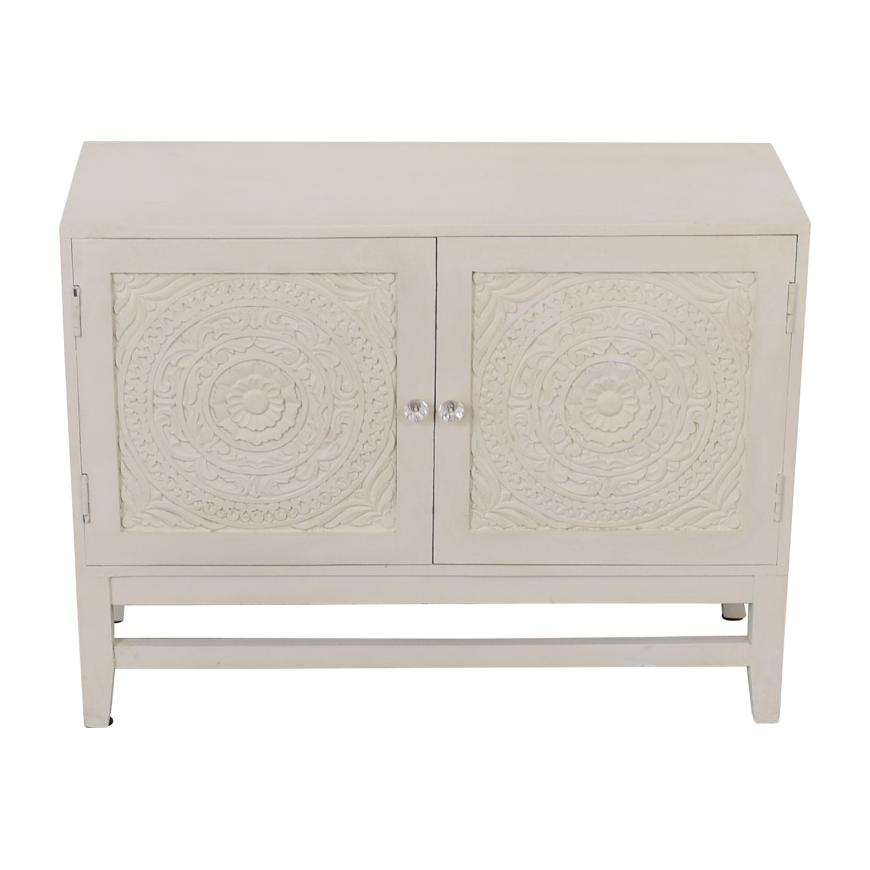 shop HomeGoods Floral Carved Sideboard HomeGoods Cabinets & Sideboards