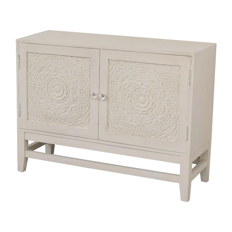 HomeGoods HomeGoods Floral Carved Sideboard Storage