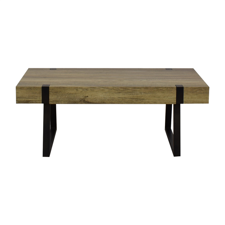 Wayfair Wayfair Metal & Wood Coffee Table nyc