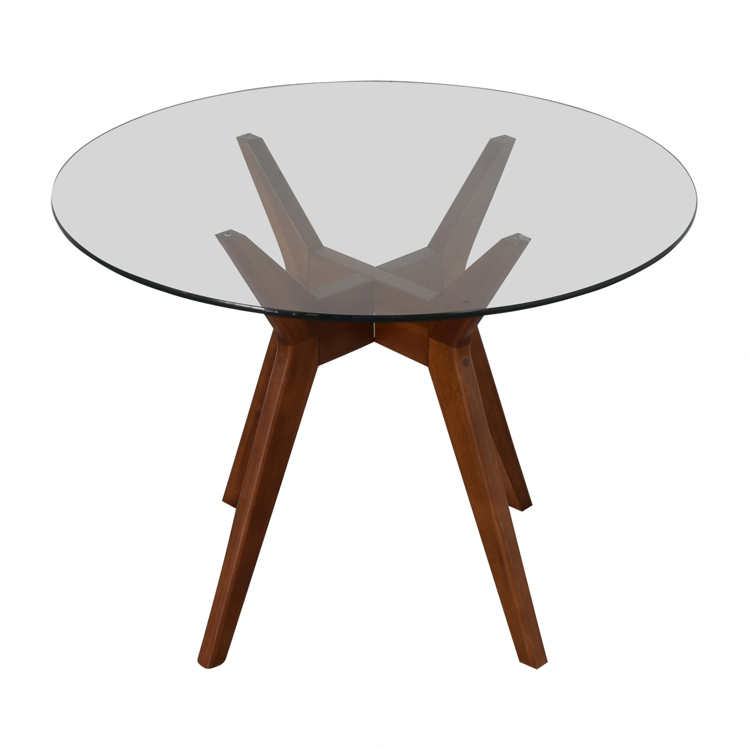 48 Off West Elm West Elm Jensen Round Glass Dining Table Chairs