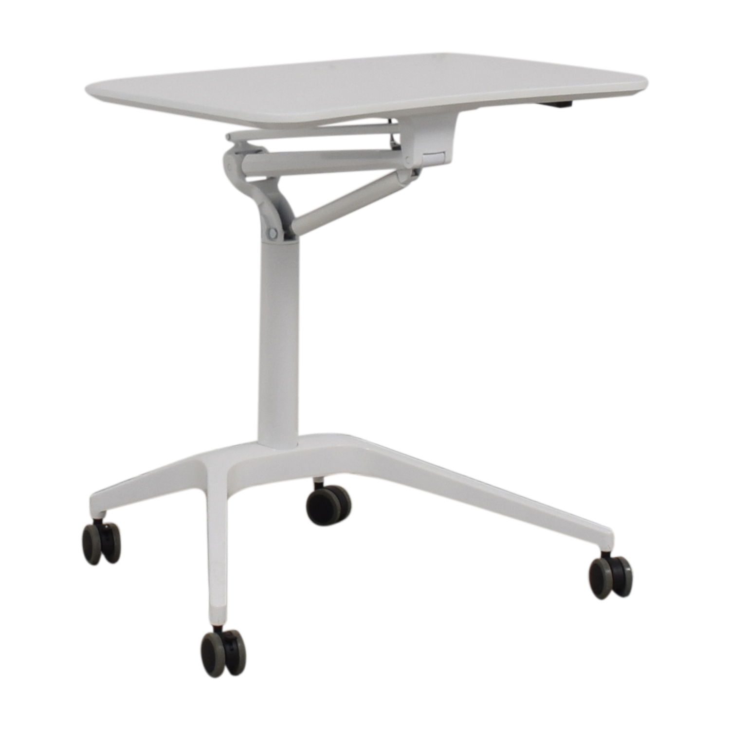 shop Container Store White Adjustable Desk Container Store
