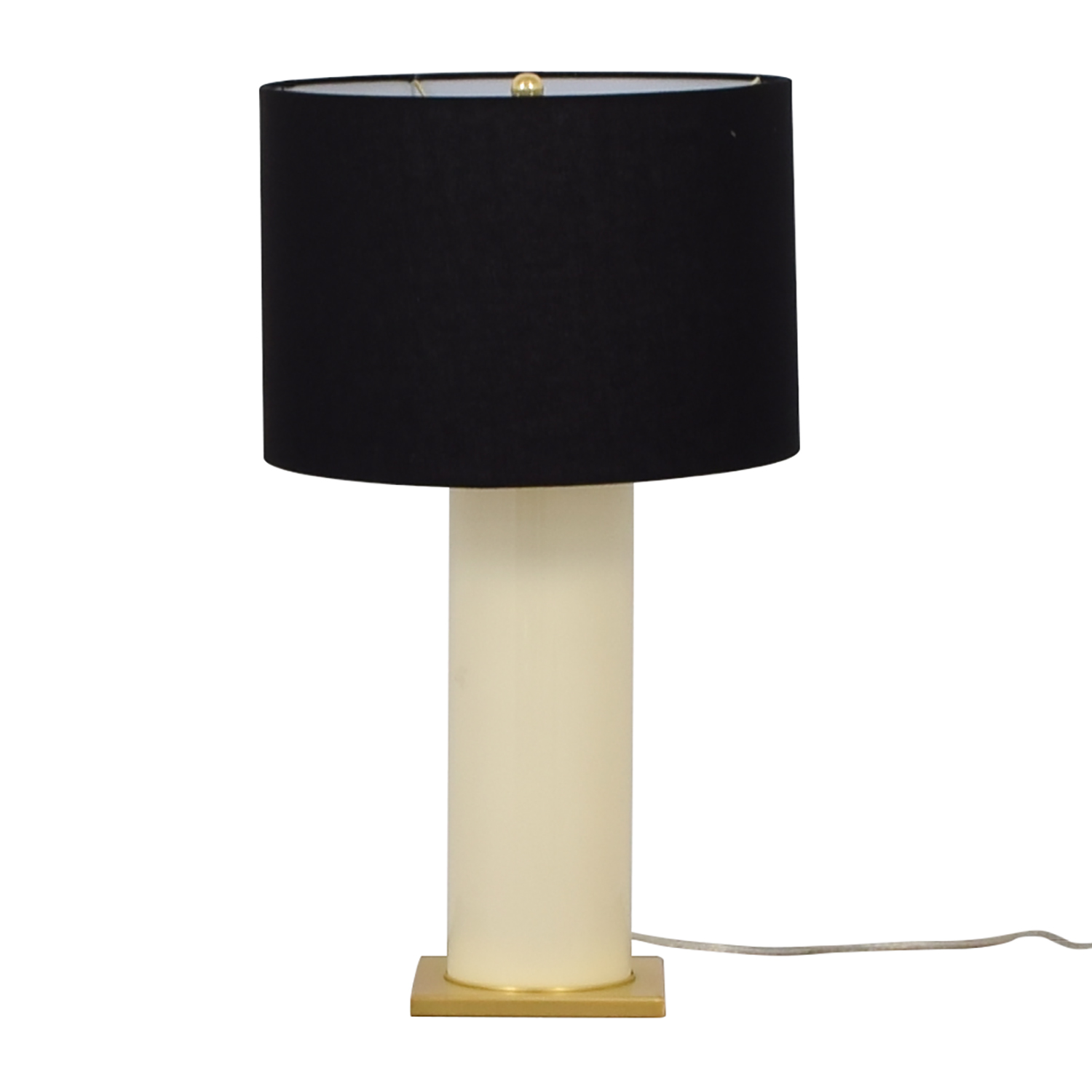 Kate Spade Black Gold and Creme Table Lamp sale