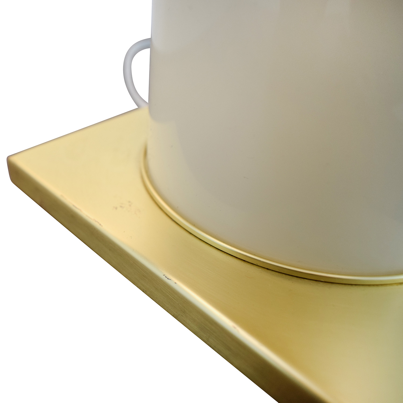 shop Kate Spade Black Gold and Creme Table Lamp Kate Spade Decor